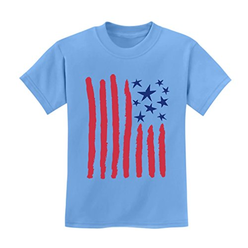 Children's Drawing USA Flag - 4th of July American Flag Kids T-Shirt X-Small California - Star T-shirt Toddler