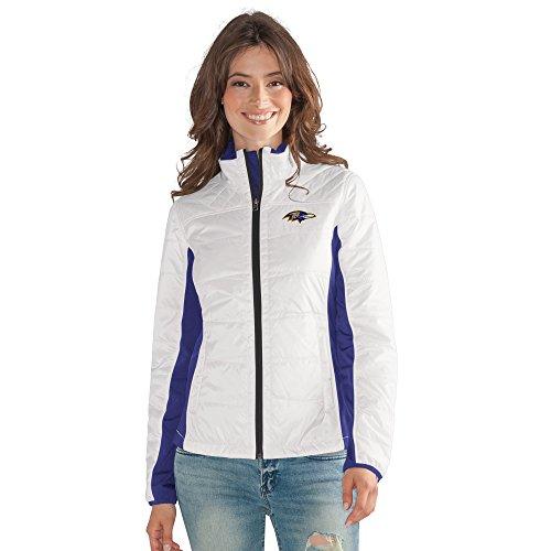 GIII For Her NFL Baltimore Ravens Women's Grand Slam Full Zip Jacket, Large, -