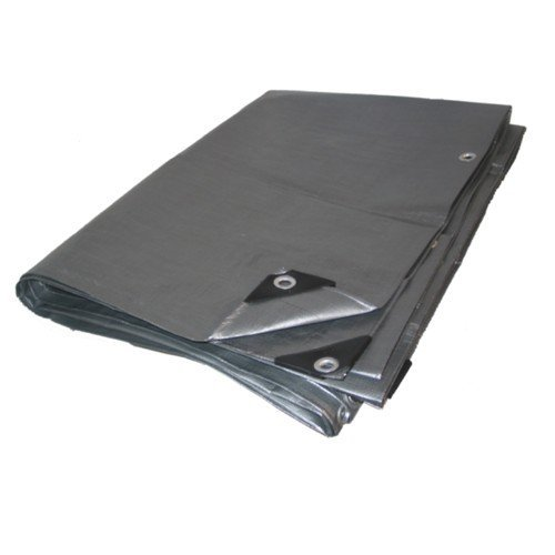 12ft X 30ft Heavy Duty Premium Silver Poly Tarp - 12 Mil Thickness ()