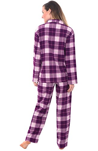 Del-Rossa-Womens-Flannel-Pajamas-Long-Cotton-Pj-Set