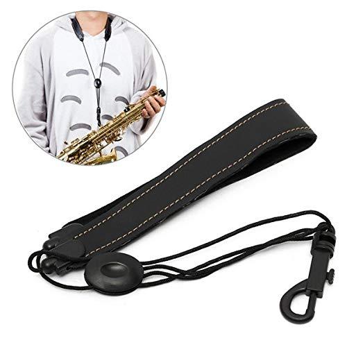 - Adjustable Soprano Tenor Saxophone Neck Strap Leather Black - Musical Instruments Wind Instrument Parts - 1 x Adjustable Saxophone Neck Strap