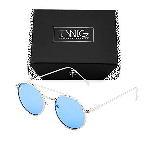 Gafas Azul TWIG redondo hombre MONTESQUIEU Plata de sol Transparente mujer rxwI8gr
