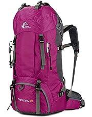 SZYT Mochila de Hombro de Alta Capacidad 60L Senderismo Bolsa de Lluvia para Exterior púrpura