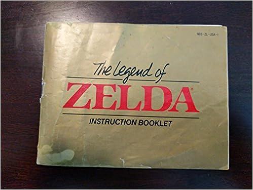 Legend Of Zelda Instruction Booklet Nes Manual Only No Game