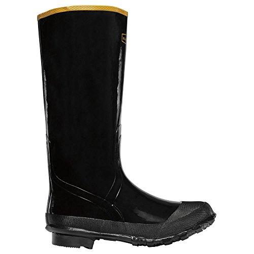 Knee Black Economy Boot (Lacrosse Men's Economy Knee Boot 16-Inch Black Rubber 11 M)