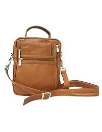 Piel Leather Radio Video Camera Bag, Saddle, One Size