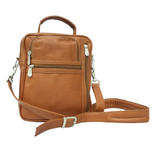 Piel Leather Camera Bag - Piel Leather Radio Video Camera Bag, Saddle, One Size