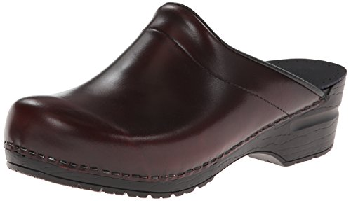 Women's Professional Wide Patent Clog, Red Patent, 43 EU/12.5-13 W US (Red Clog Patent)