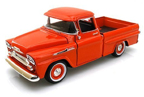 Showcasts Collectibles 1958 Chevy Apache Fleetside Pickup Truck 1/24 Scale Diecast Model Car Orange