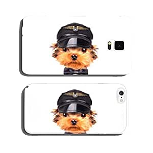 dog dressed as pilot cell phone cover case Samsung S5