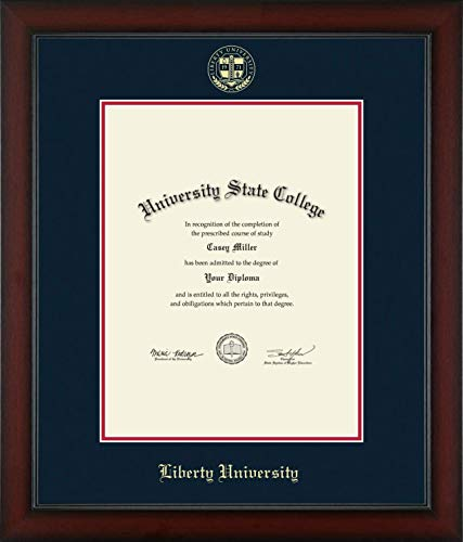 Liberty University - Officially Licensed - Masters/PhD- Gold Embossed Diploma Frame - Diploma Size 13