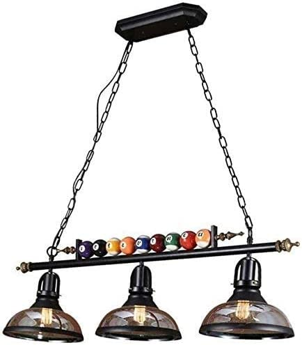 Aaedrag Decoración del billar 3 luces lámpara, lámpara de araña ...