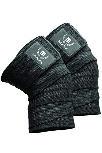 Mava Sports Knee Wraps (Pair) for Cross Training WODs,Gym Workout,Weightlifting,Fitness & Powerlifting - Best Knee Straps for Squats - for Men & Women- 72
