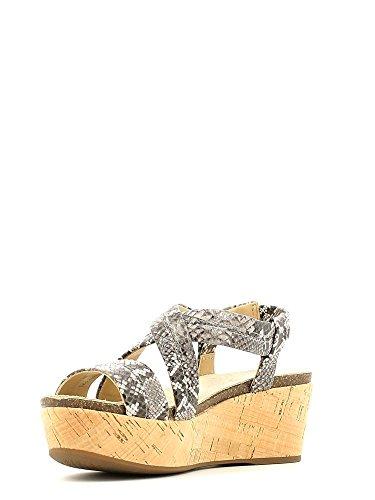 Sandalias y chanclas para mujer, color Varios colores , marca GEOX, modelo Sandalias Y Chanclas Para Mujer GEOX D JALIA B de Piel Tacon 7 cm. Smoke