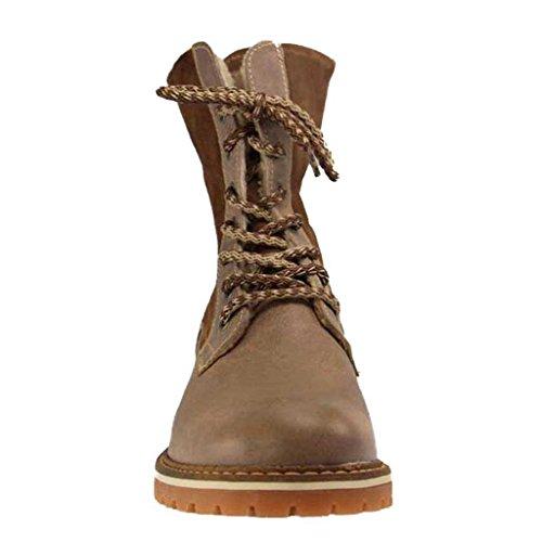 Piel Marrón Zapatos Cordones De Pardo Mustang Para Mujer wHtawUq