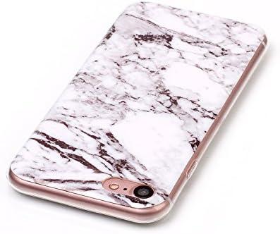 iPhone7 & iPhone8 アイフォン7 & アイフォン8 TPU 大理石 ホワイト超薄 超軽量 高质感 耐冲击 携帯を保護する 収納しやすい 潮流 2019 最新のデザイン