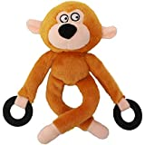 Plush Dog Squeak Toy 12.5-inch Durable Tough Small Large Pet Monkey Toys Brown
