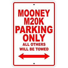 """MOONEY M20K Parking Only All Others Will Be Towed Plane Jet Pilot Aircraft Novelty Garage Wall Decor Aluminum 8""""x12"""" Sign Plate"""