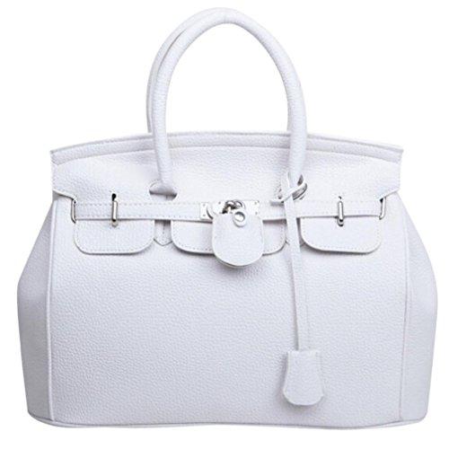 Mode Schultertasche Weiß größere Dame Handtasche Einfache YUYOUG Leder Frauen Handtasche Kapazität 6q6784Wrw
