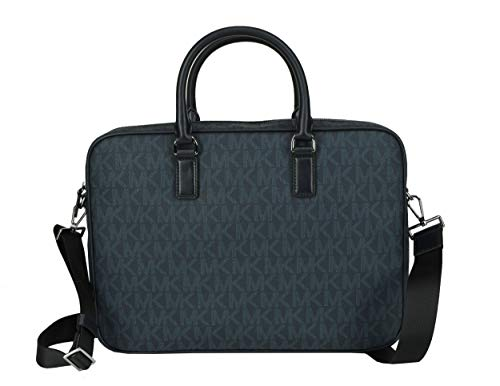 Michael Kors Jet Set Mens Large Leather Briefcase Laptop Bag Baltic Blue (BALTIC BLUE) (Brillen Von Michael Kors)