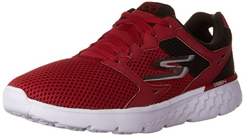 SKECHERS MENS GO RUN 400 SHOES RED BLACK SIZE 10
