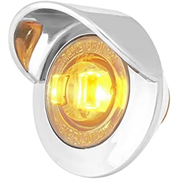 """ATVs GG Grand General Grand General 75290 1/"""" Dual Function Mini Wide Angle LED Light with Rubber Grommet for Trucks RVs Amber UTVs Trailers"""