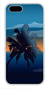 Case For Iphone 5/5S Cover Nature Palmtree PC Custom Case For Iphone 5/5S Cover Cover White
