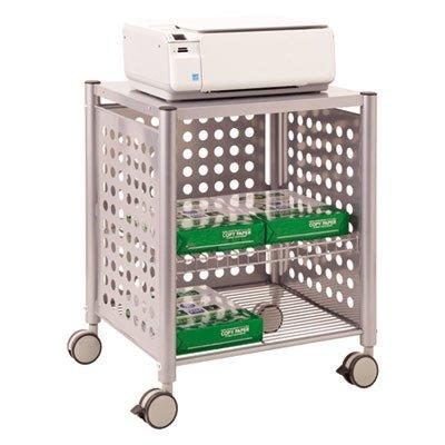 - ADVANTUS Corp VF52004 Deskside Machine Stand, Two-Shelf, 21-1/2w x 17-7/8d x 27h, Matte Gray
