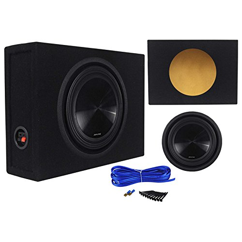 Alpine SWT-10S2 10-Inch 1000W Shallow Subwoofer + Shallow Sub - Subwoofer Powered Alpine