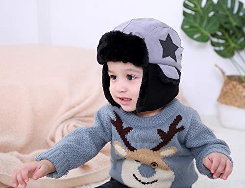 ni Unisex para os Ahaha de Gorra de invierno bombardero Sudadera con Sombrero C Boy Orejeras capucha q0w0rt8