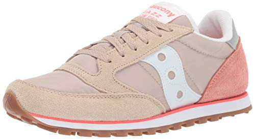 (Saucony Originals Women's Jazz Lowpro Sneaker, tan/Light Pink/ViziPink, 7.5 M US)