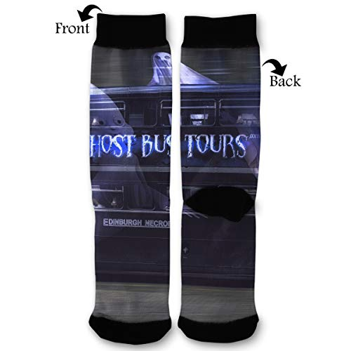 Primede Cool Halloween Ghost Tour Bus Quarter Dress Mid Calf Knee Crew Socks Calf Knit Hosiery Female Ladies Women Girl Teen Kid Youth Themed Clothing Party Clothes Dresses Apparel Ankle ()
