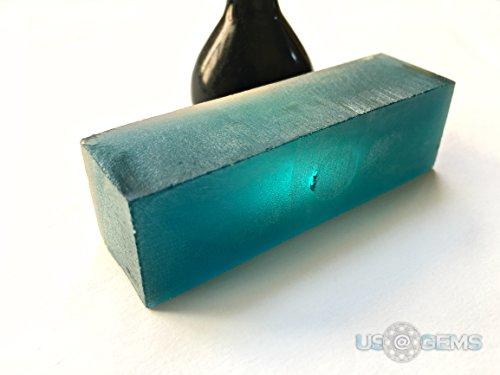 Tourmaline Paraiba Green Blue #150/2. Rough 90 gr. SIAMITE. Created Gemstone. US@GEMS