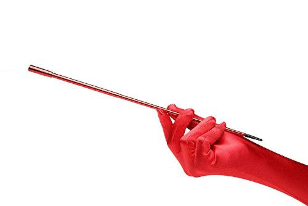 Guanti da festa depoca in raso rosso elegante e lungo Vixen Red