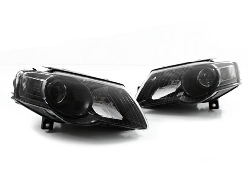 06-10 VW PASSAT B6 BLACK E-CODE PROJECTOR HEADLIGHTS (E-code Projector Headlights)