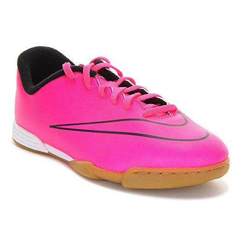 Nike Mercurial Vortex II IC - Botas para niño, color rosa / negro, talla 35
