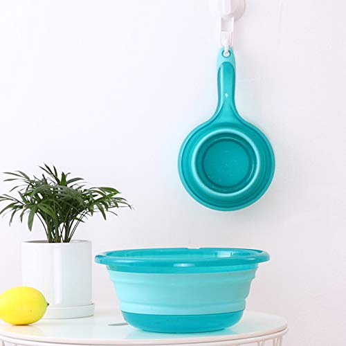 High Quality | Plastic & Portable Basins | Folding Water Spoon Kitchen Scoop Large Grip Collapsible Water Scoop Hanging Water ladle | by NAHASU ()