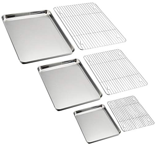 oven baking rack with pan - 9