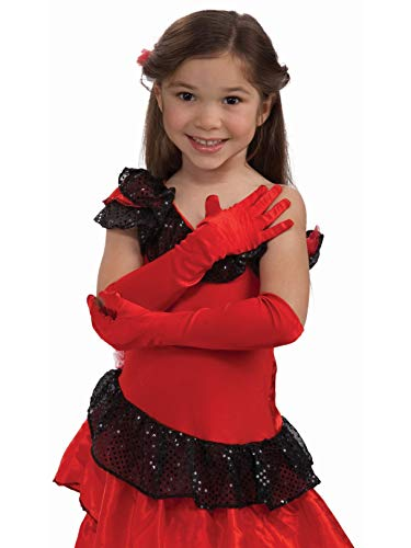Forum Novelties Formal Opera Evening Satin Long Costume Gloves for Girls - Child Size