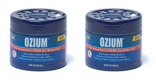 Ozium 804281-2 Regular (4.5oz) - 2 Pack Smoke & Odors Eliminator Gel, Original Scent