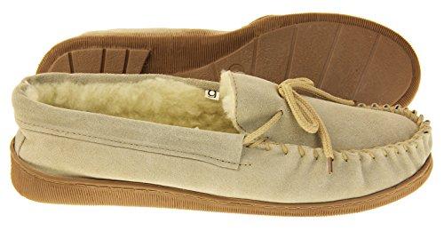 En Beige Les Laine Cuir Mocassins Pantoufles Chaussures En De Hommes Studio De Doublé Daim xwIfO