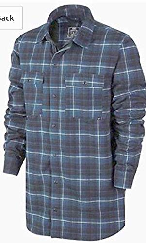 Nike Sphere Men's Snowboarding Ski Dimension Flannel Thermal Jacket - Brave Blue Black - Medium
