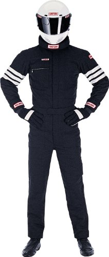 Simpson Racing 0402312 Gabardine Black Large Nomex 2-Layer Driving - Racing Nomex Suit