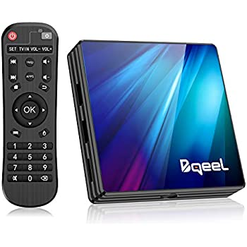 Amazon com: Android 9 0 TV Box 4GB RAM 64GB ROM, Bqeel U1