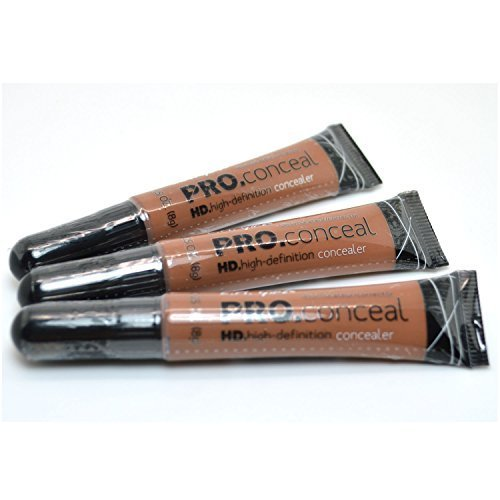 L.A. Girl Pro Concealer 3 x GC981 Toast HD High Definition Liquid Pro Conceal + FREE EARRING