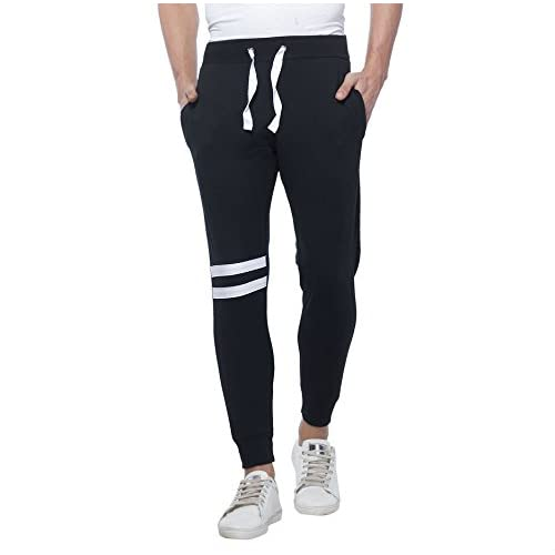 41lUQuHQNwL. SS500  - Alan Jones Clothing Men's Cotton Slim Fit Joggers