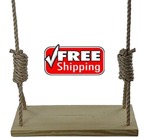 Carolina Custom Swings, LLC Premium 23.5'' 4 Hole Wooden Tree Swing Kid Adult Outdoor Porch by Carolina Custom Swings, LLC
