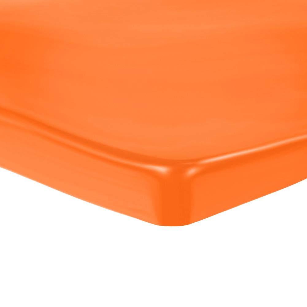 Matefielduk Alfombrillas de Gel para Asiento,Coj/ín de Asiento Gel Suave de Fibra El/ástica de Poliuretano,C/ómodo y Estable Reducir la Colision Naranja