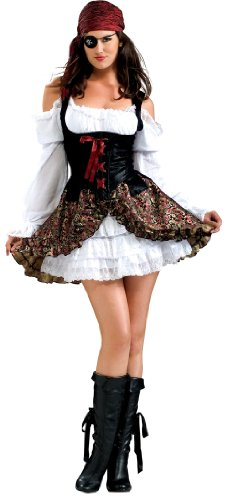Secret Wishes Buccaneer Babe Costume, Black, Medium