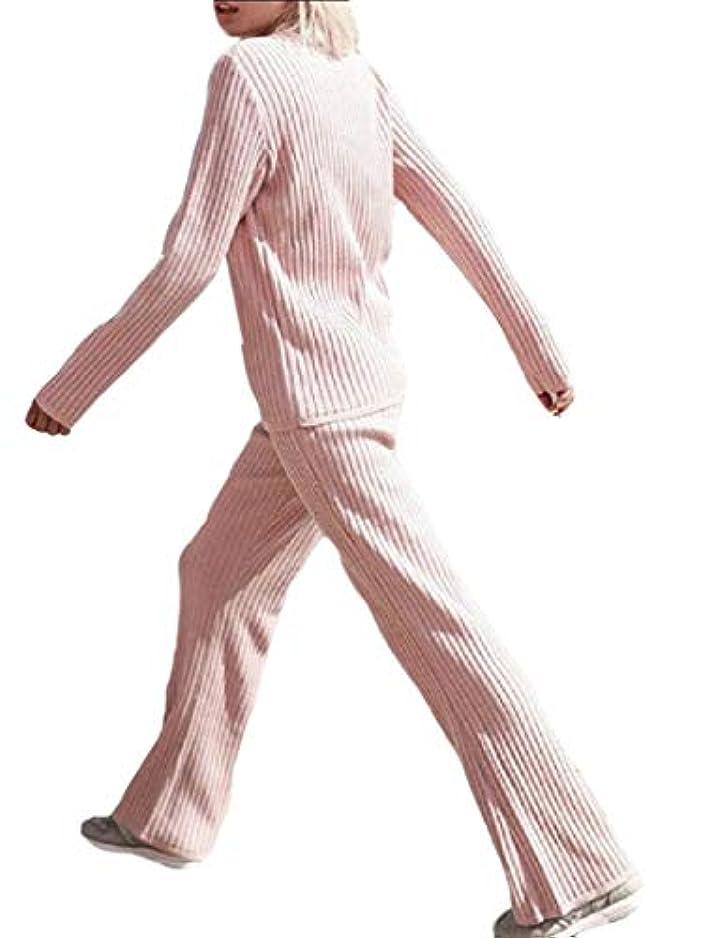 散るうまくやる()運河maweisong Women's 2 Piece Rib Knit Pullover Sweater Top Long Pants Set Outfits Tracksuit